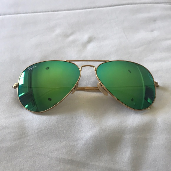 Mirror Ray Ban Green Aviator Sunglasses l1JTFcK3
